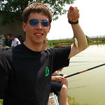 My first fish caught at the fish farm in Niš