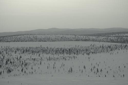 sunset painterly finland landscape flat hills lapland saariselkä kaunispää tamron70200mmf28dildifmacroaf vscopx100uvcold