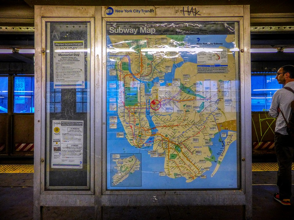 Ny Subway Map 7 Train.Queensboro Plaza Station 7 Q Or N Train Lower Platform Flickr