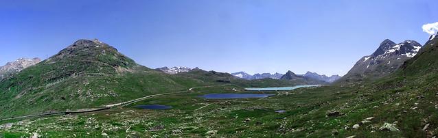 I tre laghi sul Passo del Bernina