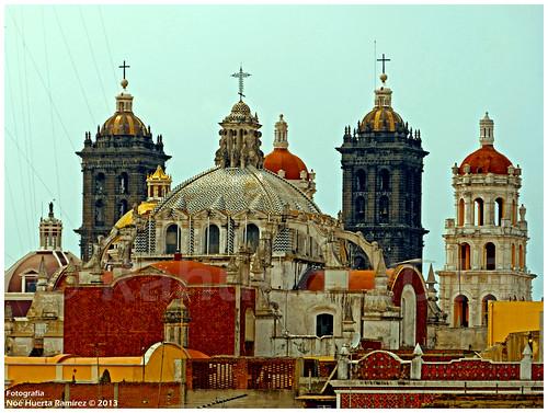 Cúpulas en Centro Historico de Puebla