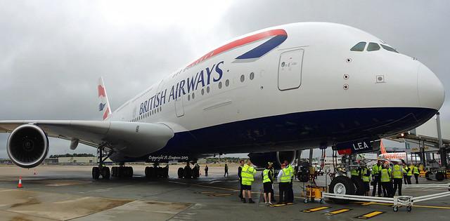 British Airways - G-XLEA (wide angle) - London Gatwick (LGW)