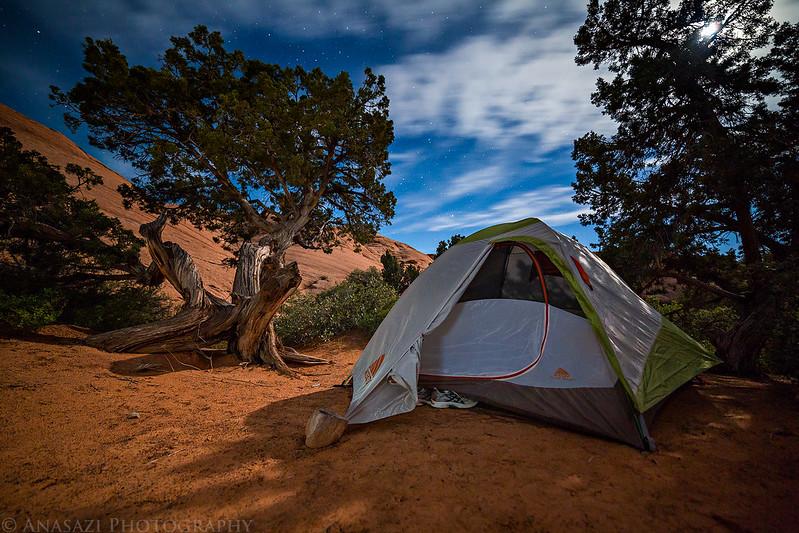 Moonlit Tent