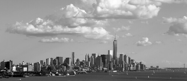 City Summer in Black and White