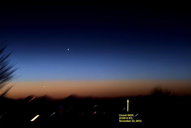 Comet ISON and Mercury on November 23, 2013