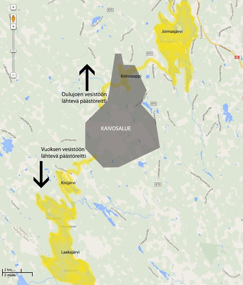 1 Kartta Talvivaara Sijaitsee Vedenjakajalla Kaivoksen V Flickr
