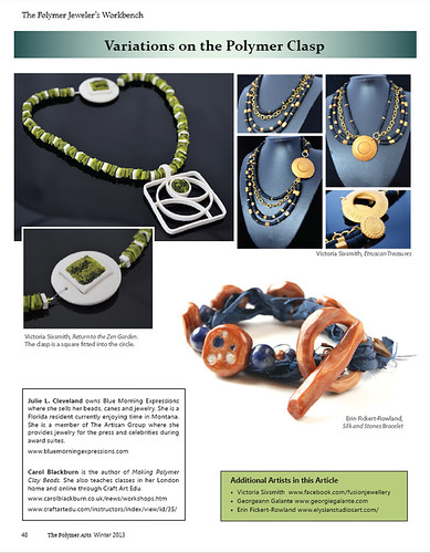 Elysian Studios featured in Polymer Arts Magazine | by elysianstudiosart
