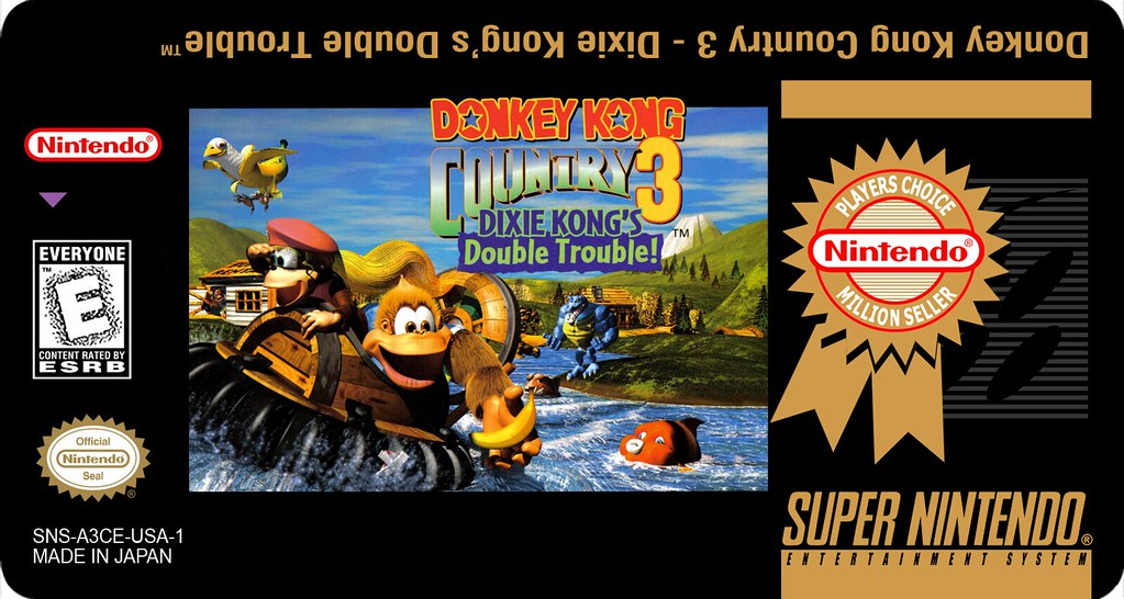 Donkey Kong Country 3 - Million Seller