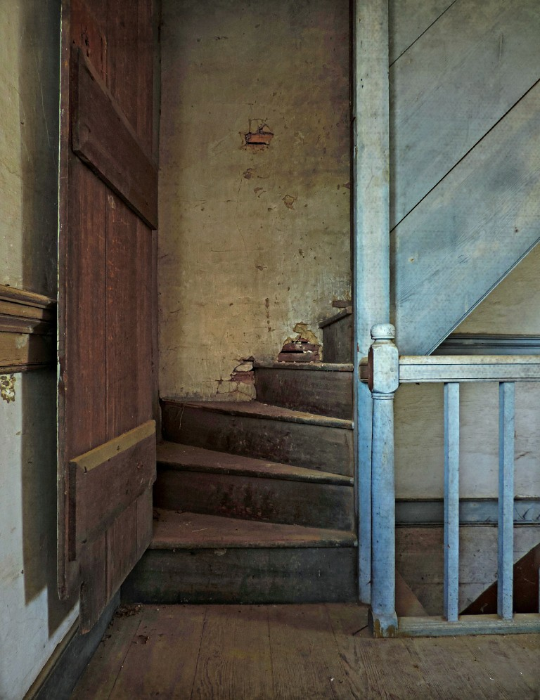 The Old Attic Staircase  Abandoned Federal Plantation Hous