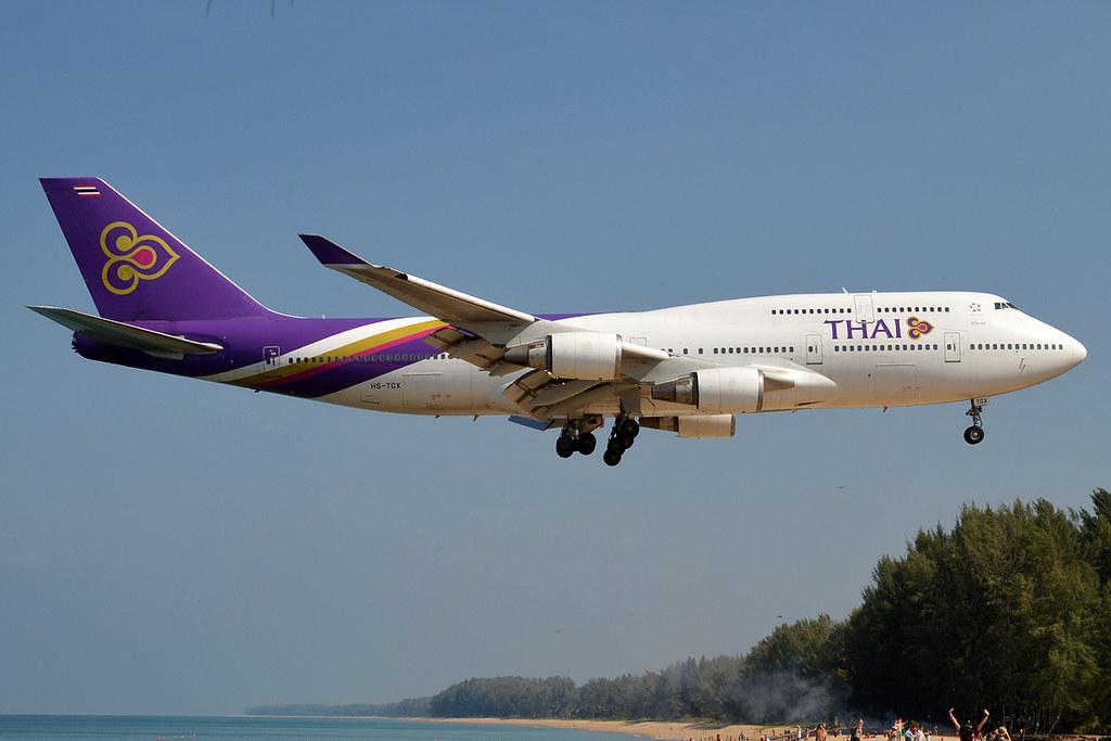 Thai Airways, HS-TGX, Boeing 747-4D7