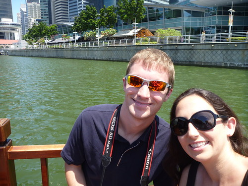 Ryan and Kristen on a Singapore boat tour | by Ryan Buterbaugh