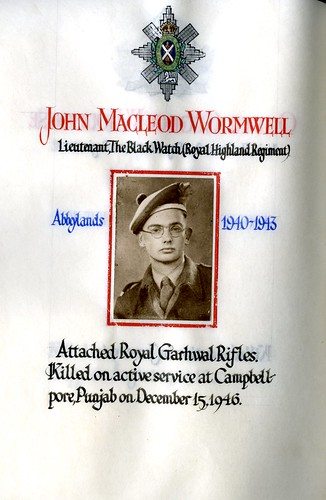 Wormwell, John Macleod (1926-1946) | by sherborneschoolarchives