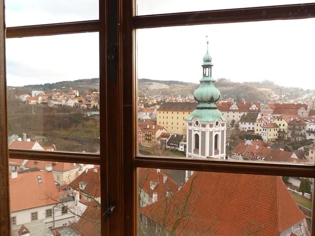 Vistas de Cesky Krumlov desde una ventana