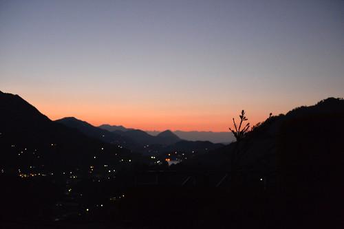 india mountain sunrise bhimtal