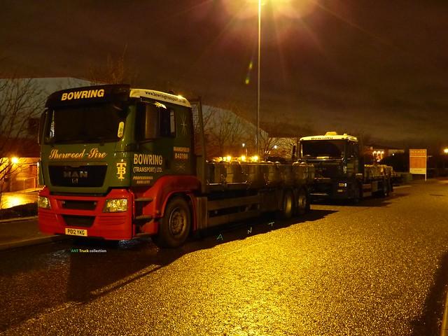 MAN TGS PA12 YKG Bowring Transport seen at Stakehill Oldham UK