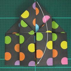 การพับกระดาษเป็นถุงใส่ขนมแบบญี่ปุ่น (Origami Sambo) 010