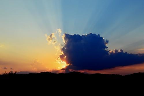 cloud sun sunset sky serbia sundown sunrays blue srbija serbien markovina nikon d3200 focus camera evening