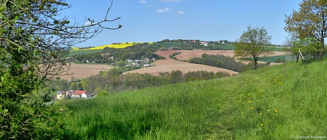 Blick von der Steinlinde bei Burgstädtel gen Babisnau