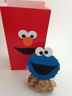 Elmo Goody Bag and Cookie Monster Snack Bag Topper | by CraftyGoat