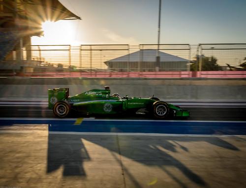 sunset bahrain f1 testing 2014 sakhir kamuikobayashi caterhamf1 caterhamct05