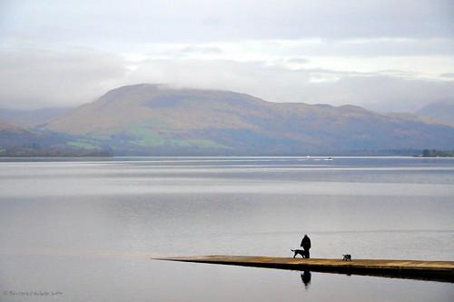 mountain lake clouds landscape scotland d90 dunbartonshire nikon90