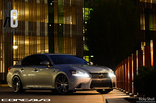 Lexus GS350 F-Sport on CW-S5 Matte Grey Machined Face | by Concavo Wheels