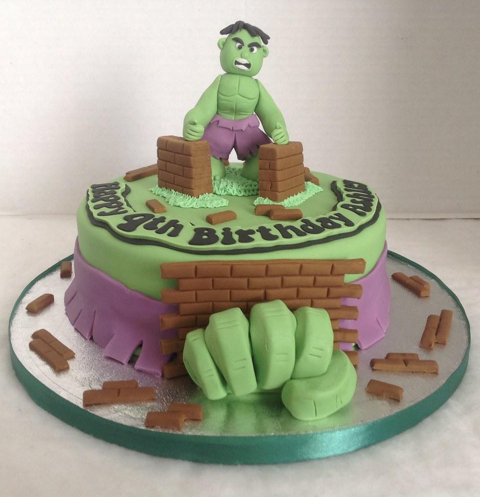 Remarkable Hulk Birthday Cake Liz Flickr Funny Birthday Cards Online Elaedamsfinfo