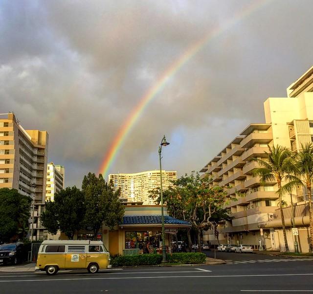 Rainbow bus