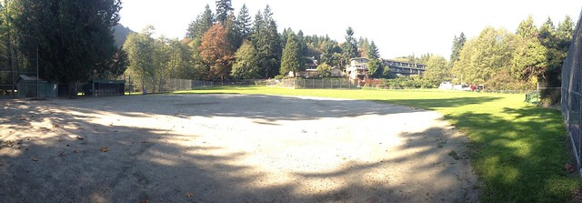 Baseball diamond on Bowen Island