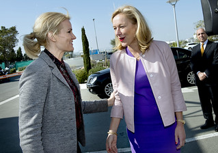 Danish Prime Minister Helle Thorning-Schmidt and Sigrid Kaag | by for the elimination of Syrian chemical weapons