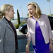 Danish Prime Minister Helle Thorning-Schmidt and Sigrid Kaag