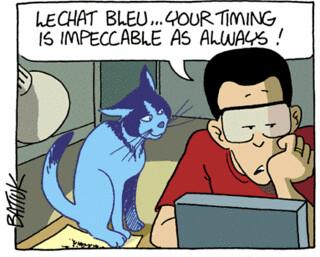 Le Chat Bleu July 1999