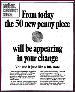 14th October 1969 - New 50p Coin | by Bradford Timeline