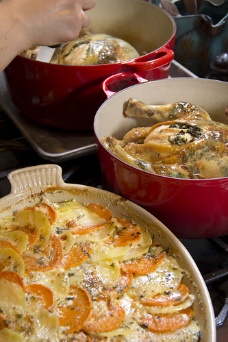 Chicken and Potatoes in Le Creuset Cookware | by Didriks
