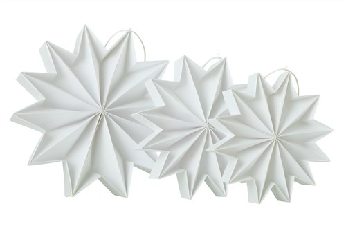 Pleat Stars - White | by all things paper