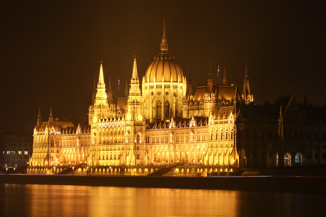 Budapest - the Parliament with night lights 2013 2
