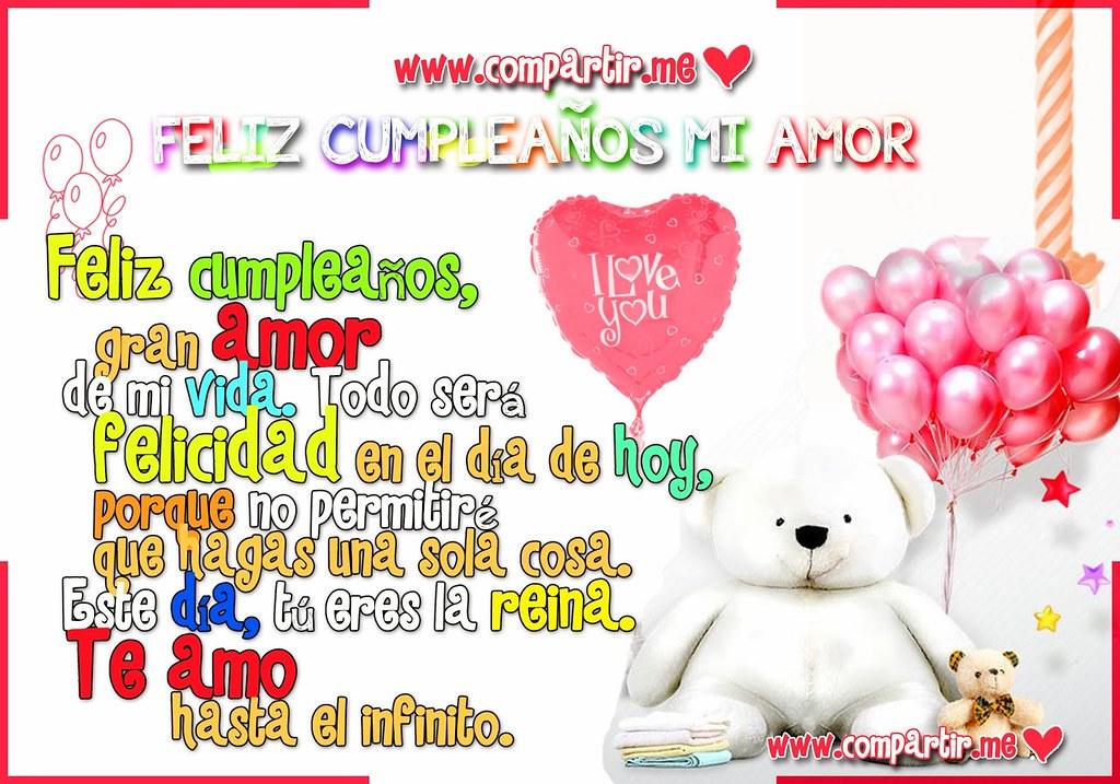 Frases De Amor Una Hermosa Tarjeta De Cumpleaños Para Ded
