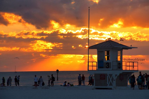 sunset usa florida clearwaterbeachfl