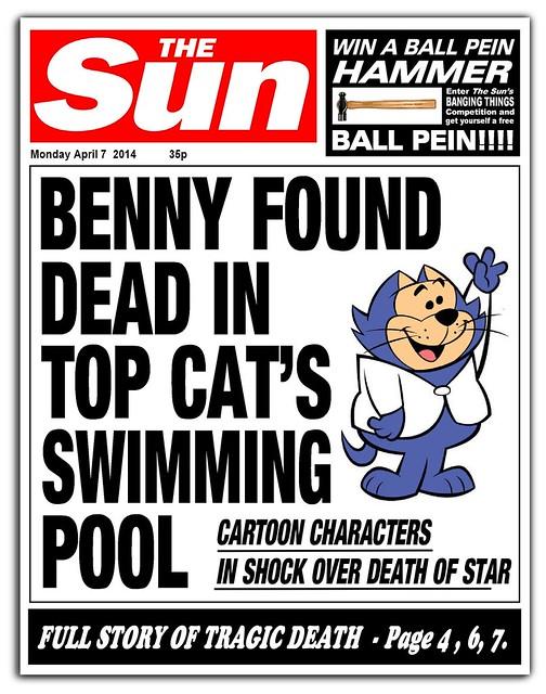 sun newspaper benny found dead