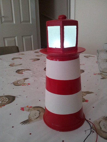 Spray painted lighthouse model | by lilspikey