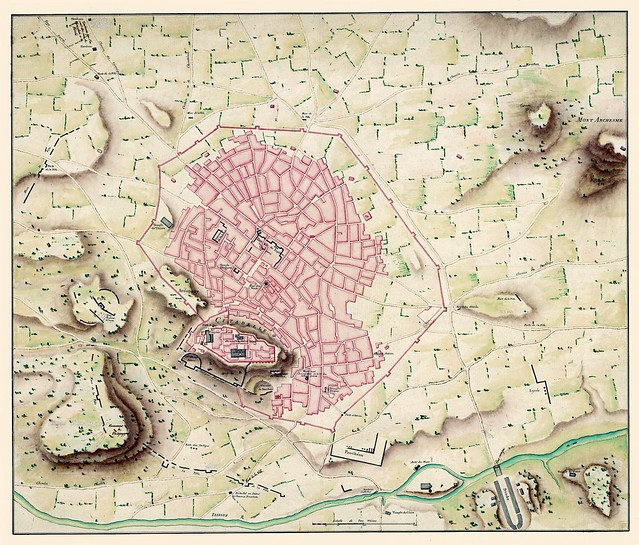 Plan d'Athenes, 1780 (Fauvel)