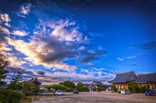 sunset sky building clouds temples 雲 空 日没 fav10 davidlaspina japandave mikawabetsuin 三河別院