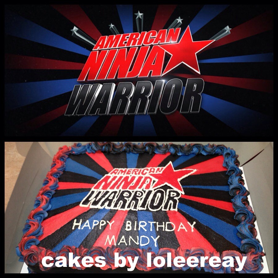 American Ninja Warrior | American Ninja Warrior Cake  Made t