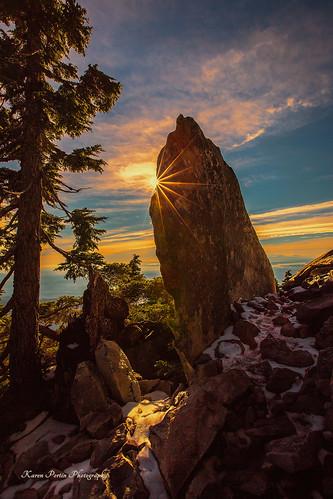trees snow boulder trail topaz sunstar mtpilchuck sunsetfilter