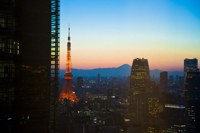 Tokyo Tower & Mt Fuji