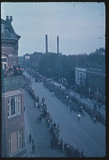 The arrival of the Danish brigade on the days of liberation. Østerbrogade, Copenhagen. Photo: Flemming Wolf-Frederiksen.