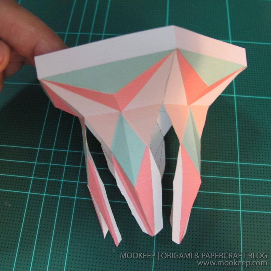 สอนทำโมเดลกระดาษเป้นรูปแจกันโบราณ (Papercraft Model Flower Vase) 015