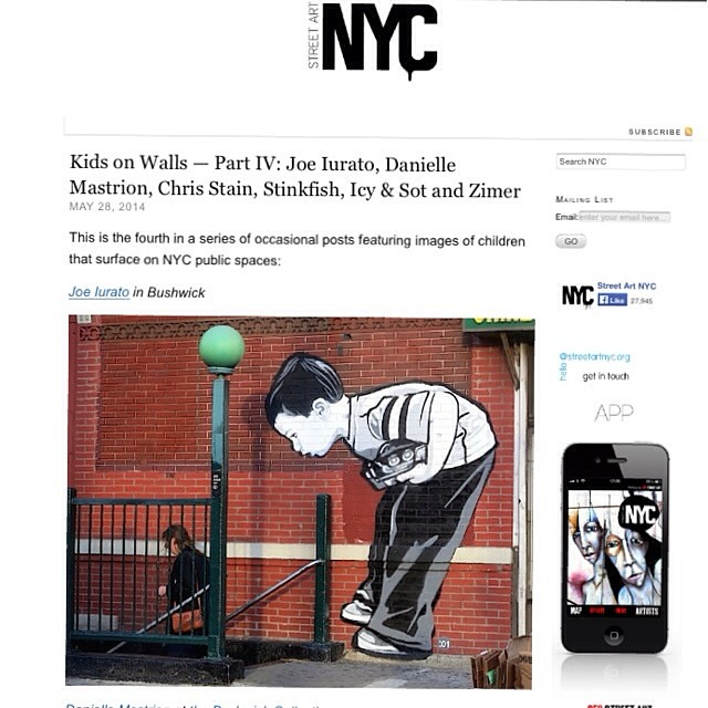 Check out images of kids on NYC walls at StreetArtNYC.org with @joeiurato and more