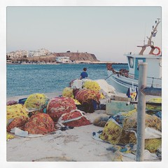 Greek fishermen #greece #cyclades #greekpostcard6