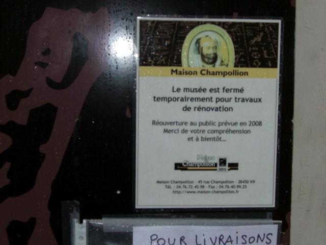 Musee Champollion Commune de Vif (Isère)
